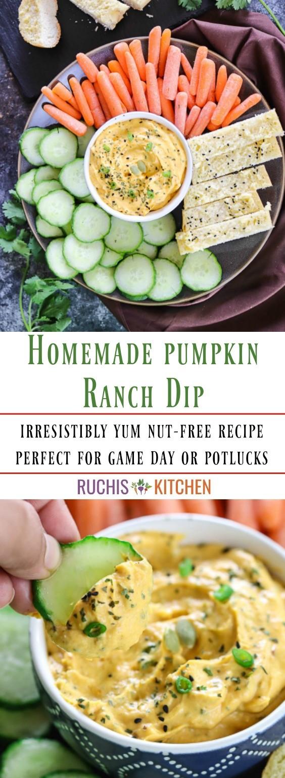 Homemade pumpkin ranch dip - Ruchiskitchen