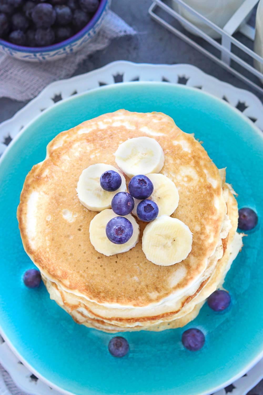 Vegan Coconut Banana Pancakes- Ruchiskitchen