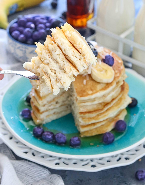 Vegan Coconut Banana Pancakes - Ruchiskitchen