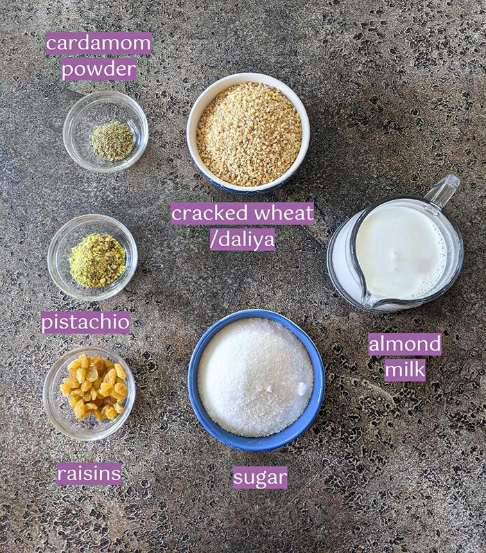 Meetha daliya ingredient list