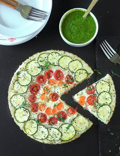 Crustless veggie quiche - Ruchiskitchen