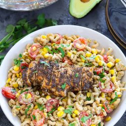 Cajun Chicken With Creamy Avocado Pasta