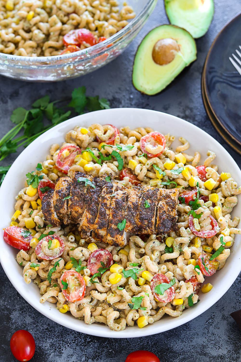 Cajun Chicken With Creamy Avocado Pasta - Ruchiskitchen
