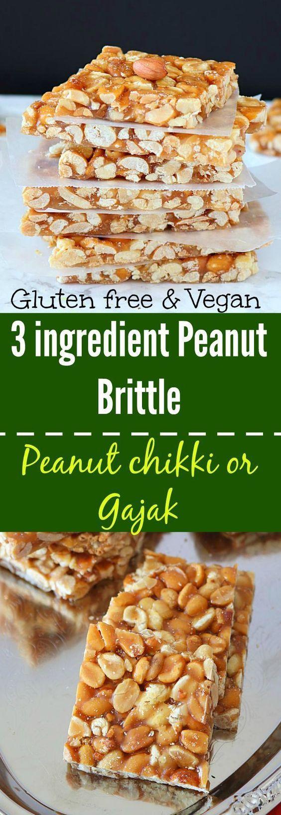Peanut Chikki or Peanut Brittle - Ruchiskitchen