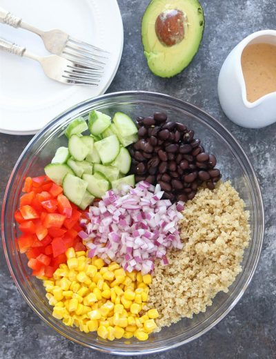Healthy Quinoa and Bean Salad