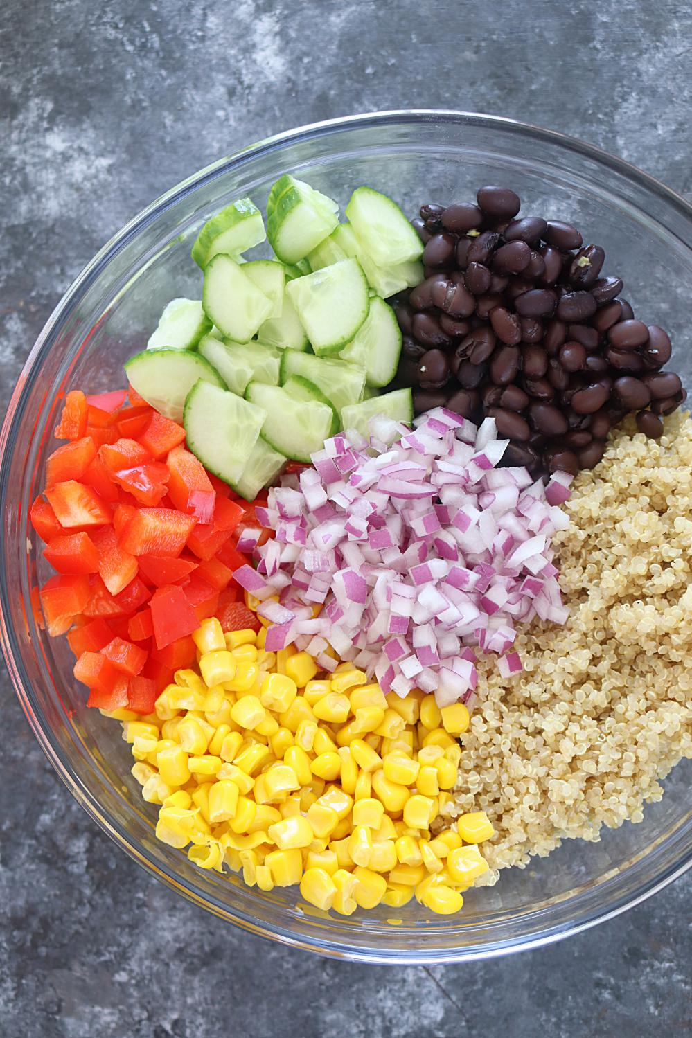 Healthy quinoa and bean salad vegan quinoa and black bean salad quinoa is the perfect food for anyone it can be paired with literally anything and best of all its gluten free vegan and extremely healthy forumfinder Images