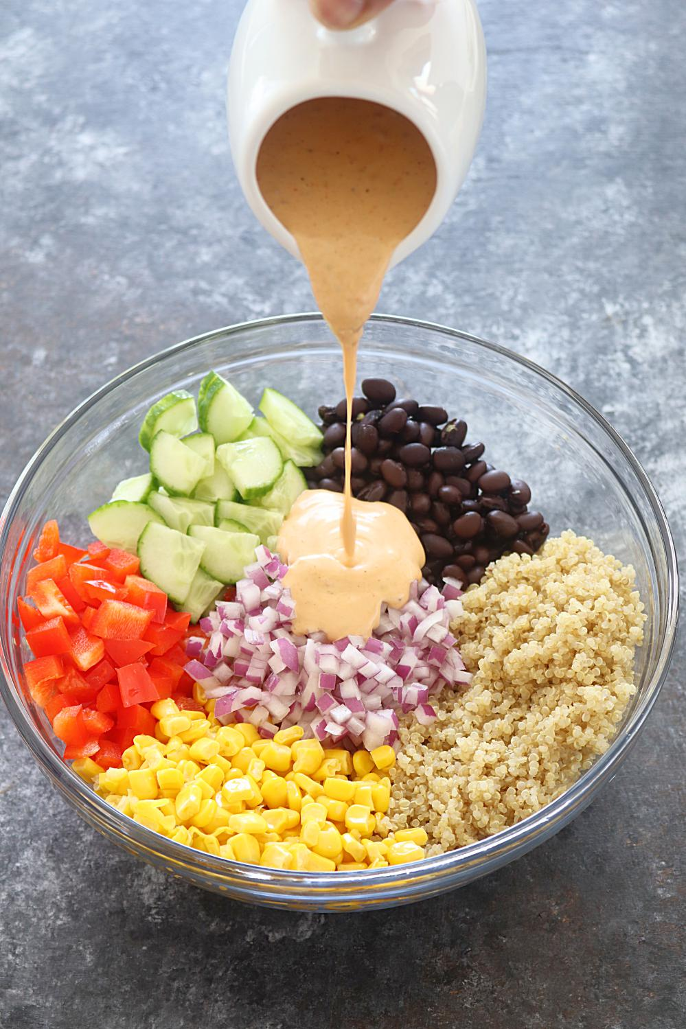 Healthy Quinoa and bean salad - Ruchiskitchen