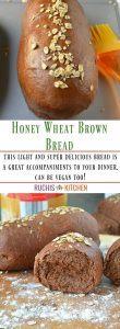 Honey Wheat Brown Bread - Ruchiskitchen