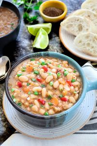 Instant Pot Vegan White Bean Soup - Ruchiskitchen