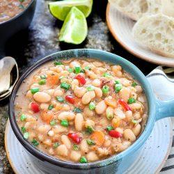 Instant Pot Vegan White Bean Soup - Ruchiskitchen