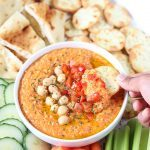 Roasted Red Bell Pepper And Chickpea Hummus Recipe- Ruchiskitchen