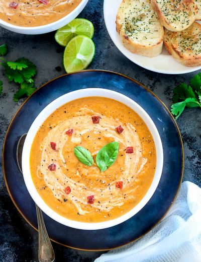 Instant Pot Creamy Sweet Potato And Carrot Soup - Ruchiskitchen