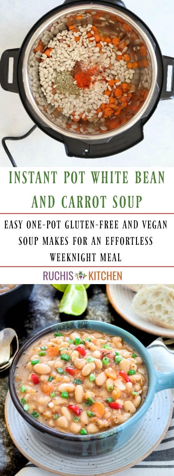 Instant Pot White Bean Soup -Ruchiskitchen