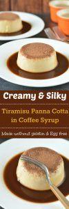 Delicious and creamy Tiramisu Panna Cotta - Ruchiskitchen