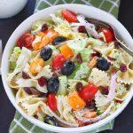 Cranberry Bowtie Pasta Salad- Ruchiskitchen