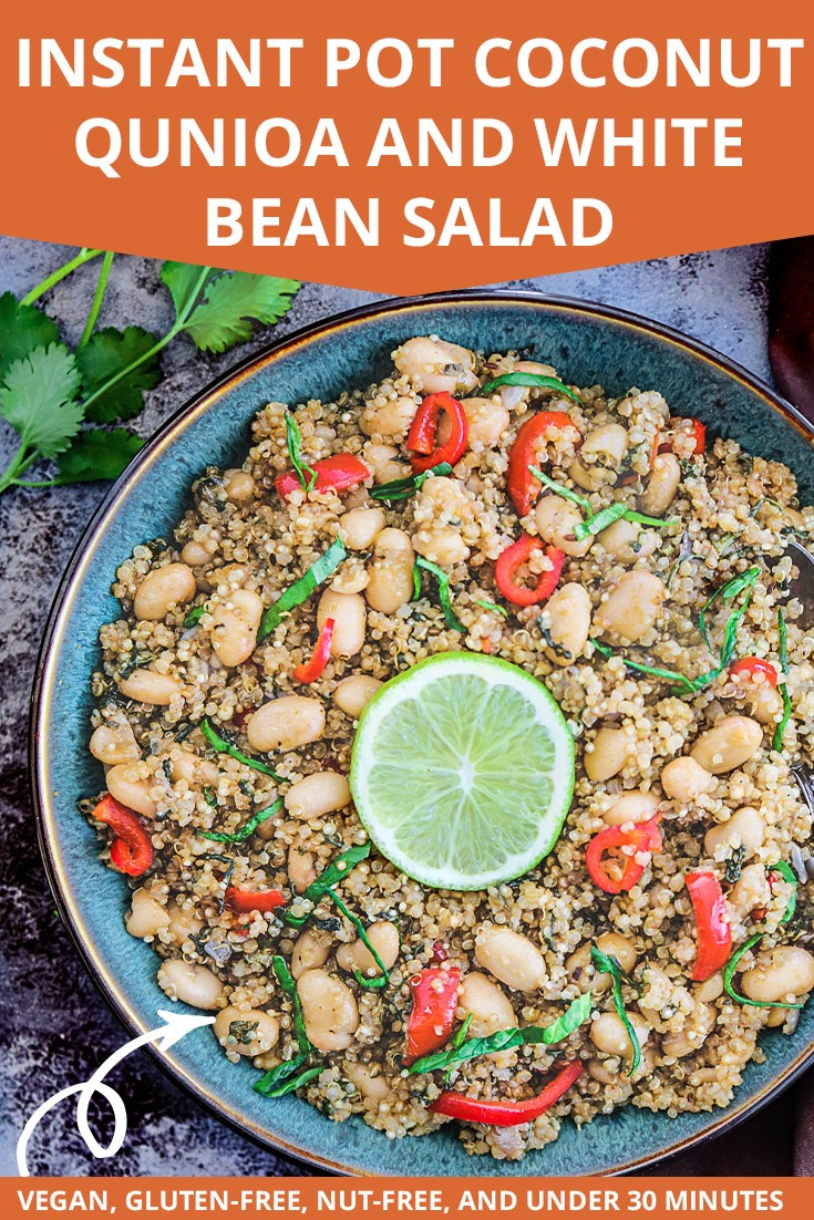 Instant Pot Coconut Quinoa And White Bean Salad Pinterest Pin
