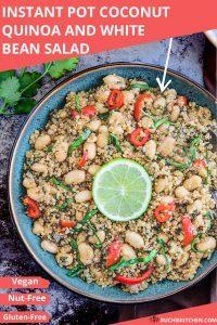 IP quinoa white bean soup Pinterest image