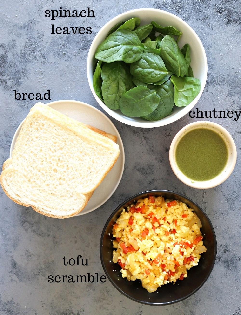 Tofu Scramble Breakfast Pinwheels - Ruchiskitchen
