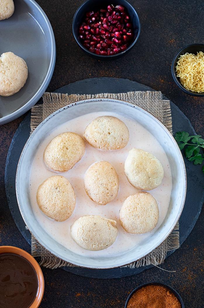 Dahi Bhalla Recipe - Add yogurt to a bowl