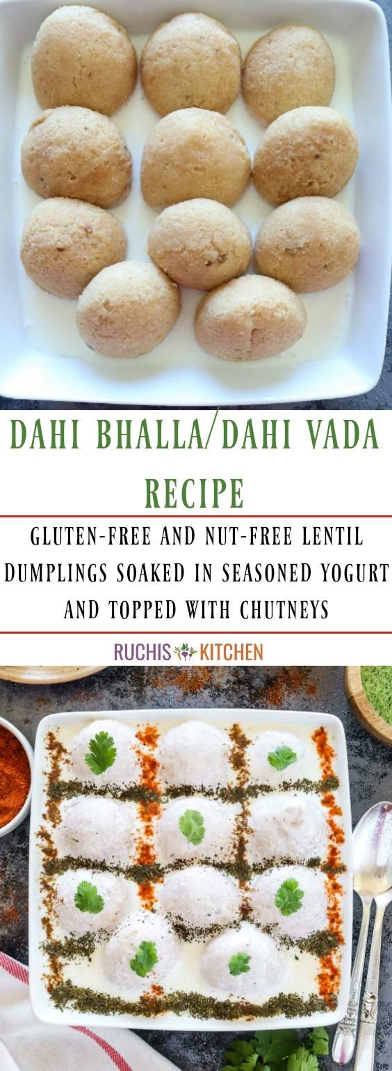 Dahi Bhalla Pinterest collage - Ruchiskitchen