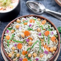 Instant Pot Chickpea and Spinach Pulao