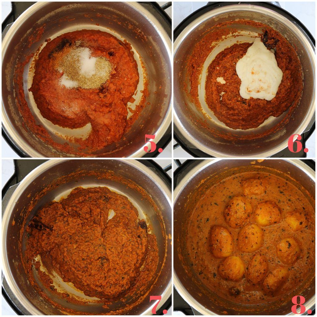 Step By Step Instant Pot Dum aloo Recipe - Ruchiskitchen