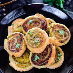 Puff Pastry Samosa Pinwheels