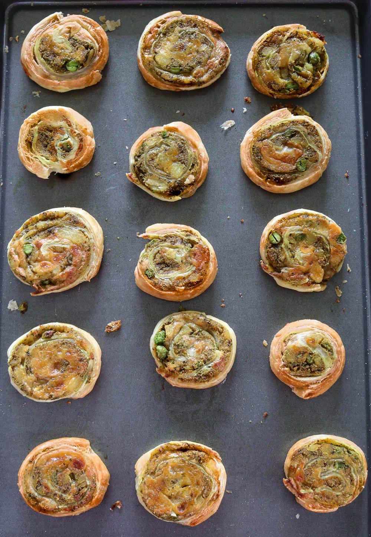 Baked Puff Pastry Samosa Pinwheels - Ruchiskitchen