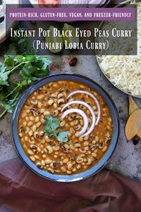 Instant Pot Black Eyed Peas Curry Pinterest Image