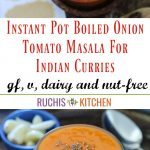 Instant Pot Boiled Onion Tomato Masala For Indian Curries- Pinterest Pin