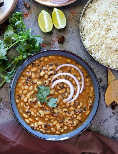 Instant Pot Lobia Masala Recipe - Ruchiskitchen