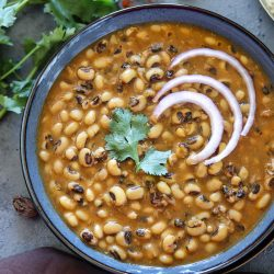 Instant Pot Black Eyed Peas Curry (Punjabi Lobia Curry)