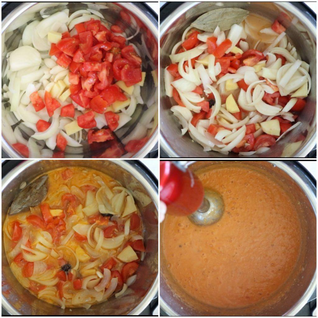 Step by Step boiled Onion Tomato Masala Recipe - Ruchiskitchen