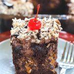 Vegan Chocolate Poke Cake With Whipped Chocolate Ganache Frosting - Ruchiskitchen