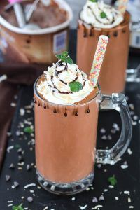 Dark Chocolate Coconut Cooler top view - Ruchiskitchen