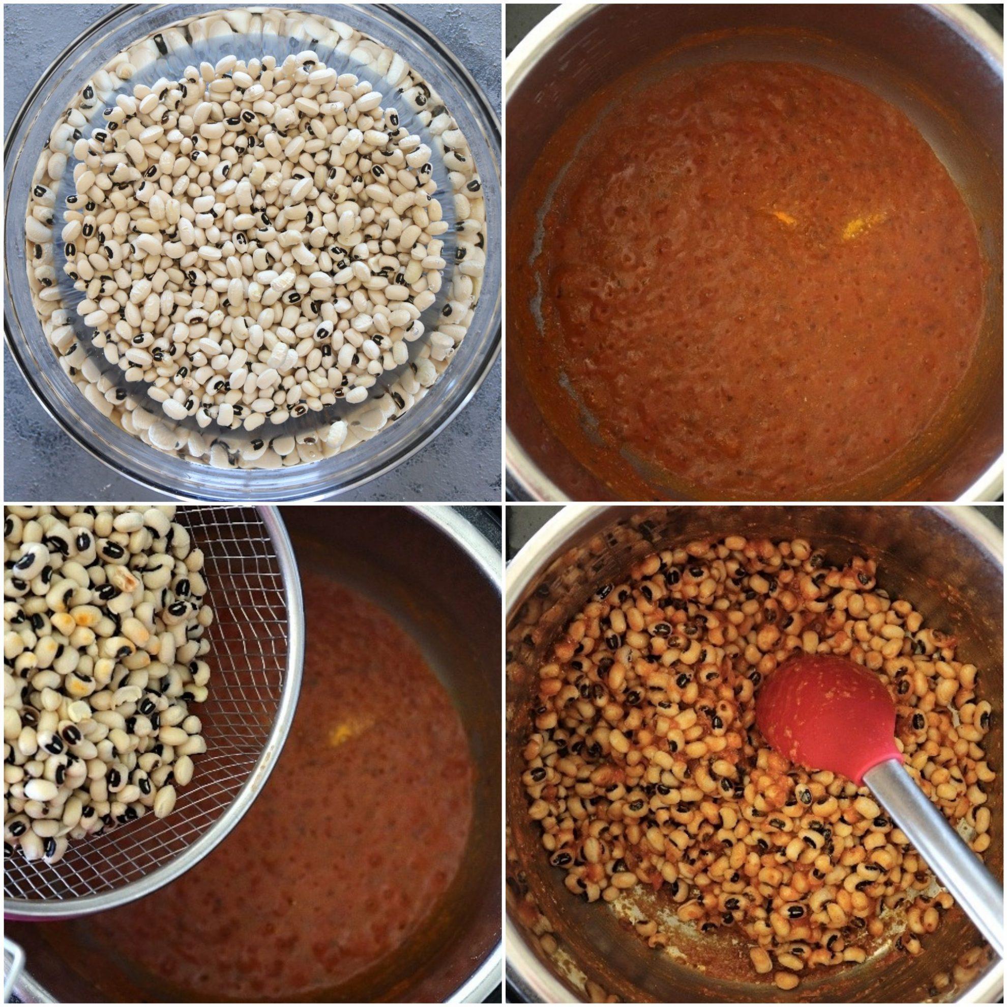 Step by step Instant Pot Black Eyed Peas Curry - Ruchiskitchen