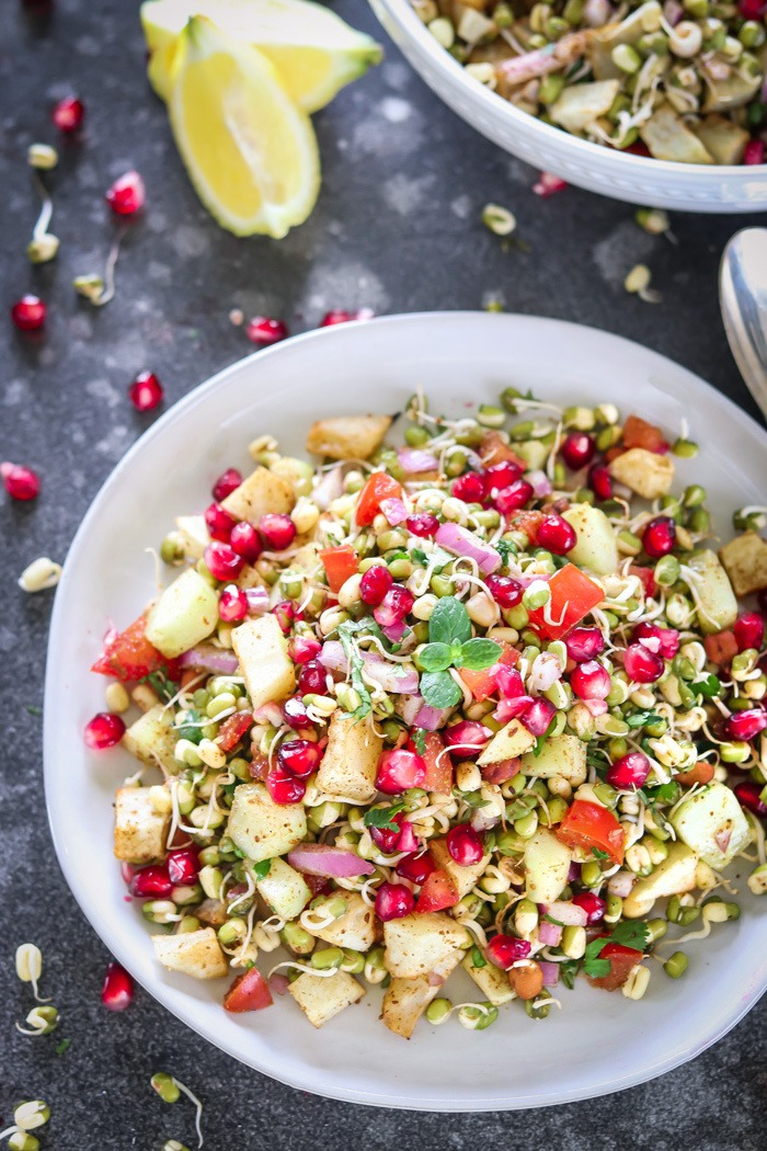 Moong dal sprouts salad