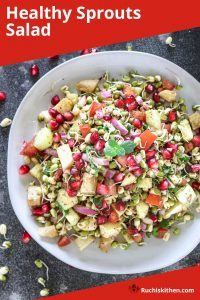 Healthy Sprouts Salad Pinterest image