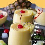 Pineapple Mango Piña Colada Pinterest collage