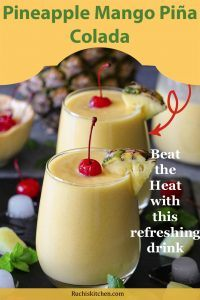 Pineapple Mango Piña Colada Pinterest collage