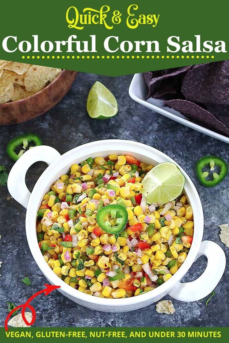 Quick and Easy Corn salsa- Ruchiskitchen