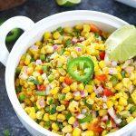 Colorful Corn Salsa - Ruchiskitchen