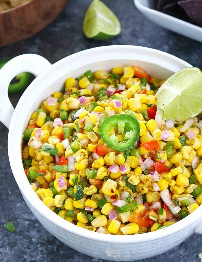 Colorful Corn Salsa - Ruchiskitchen