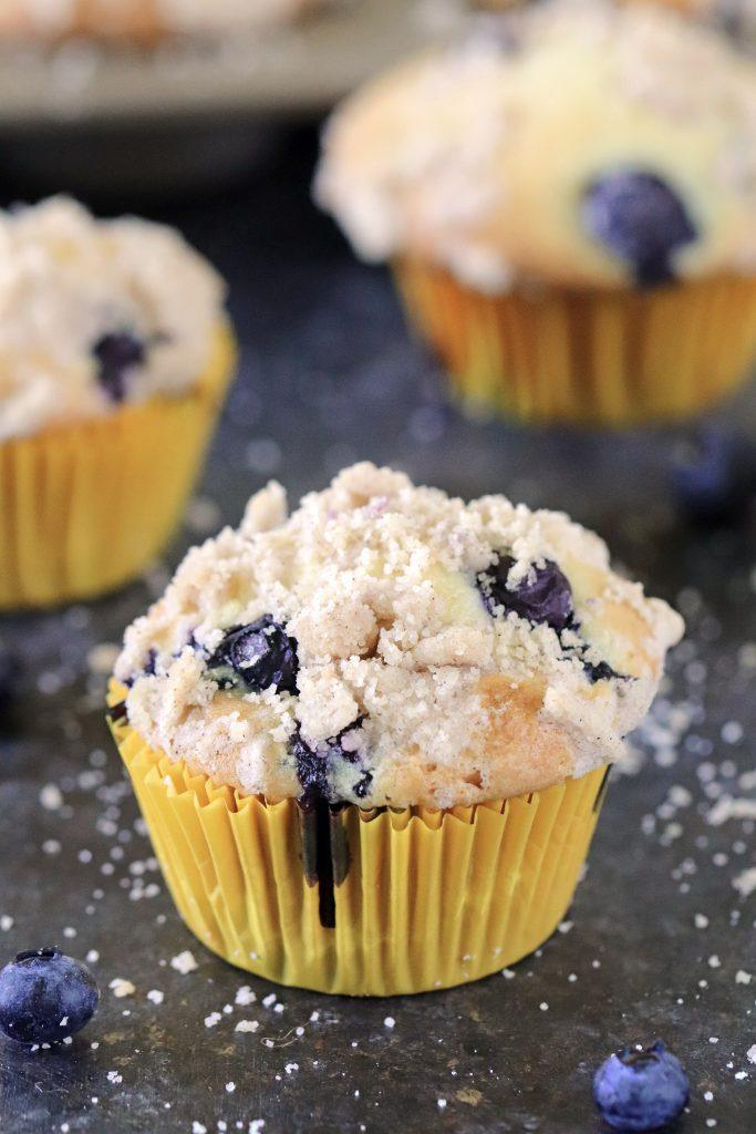 Breakfast Blueberry Muffins With Streusel Crumb Topping