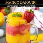 Strawberry Mango Daiquiri pinterest pin