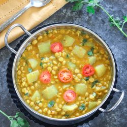 Instant Pot Lauki Chana Dal with Rice (Pot in Pot Method)