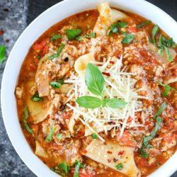 Instant Pot Chicken Lasagna Soup
