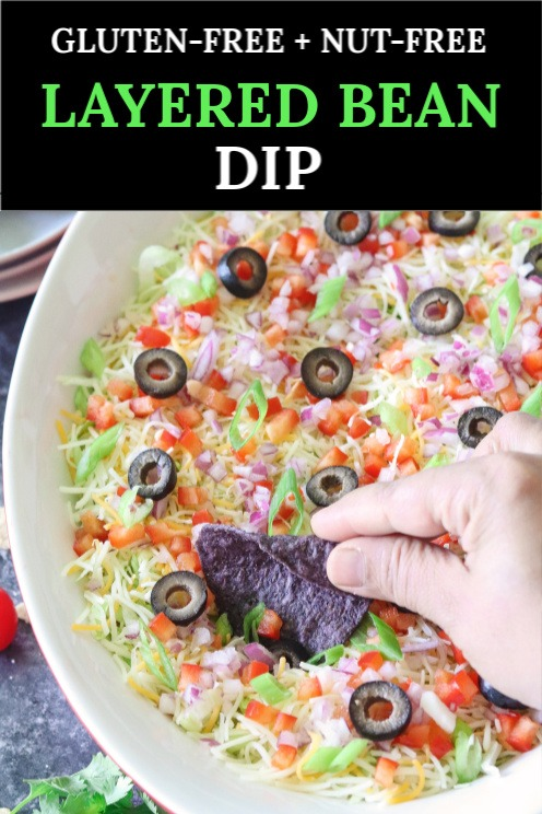 Refried Bean dip with chips