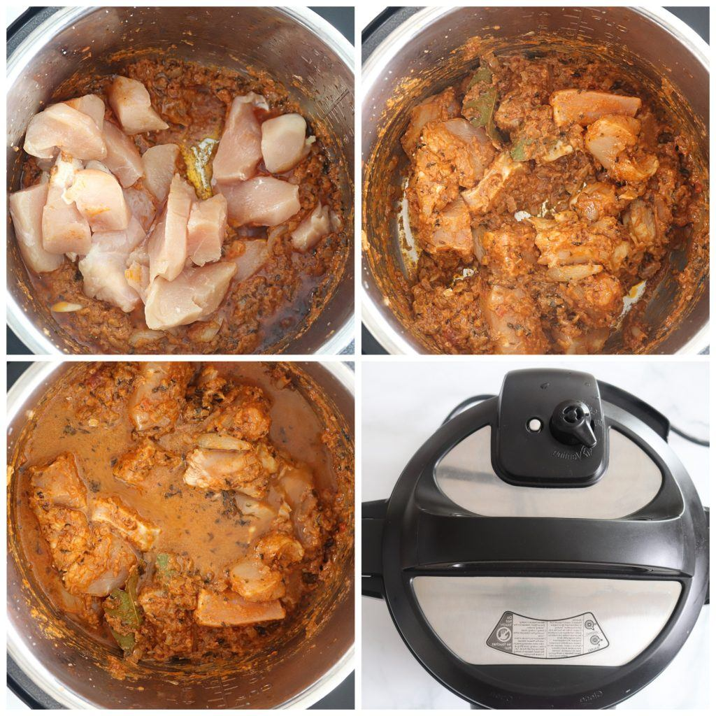 Pressure cooker Instant Pot Indian Chicken Curry