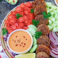 Vegan Falafel with Rainbow Salad